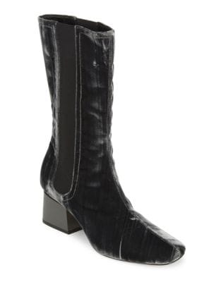 Eartha Velvet Booties by Sigerson Morrison