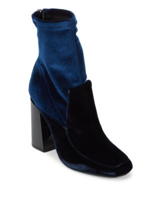 Photo of Joanna Velvet Booties by Sigerson Morrison - shop Sigerson Morrison shoes sales