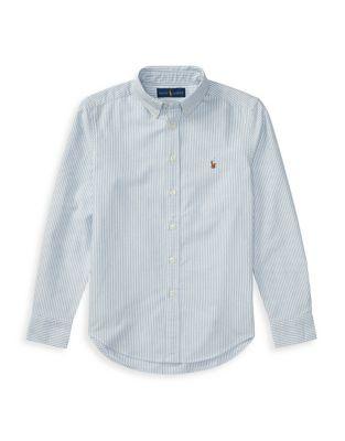 Boy's Cotton Oxford Shirt...