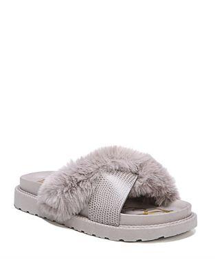 Bianca Faux Fur Fluffy Slides by Sam Edelman