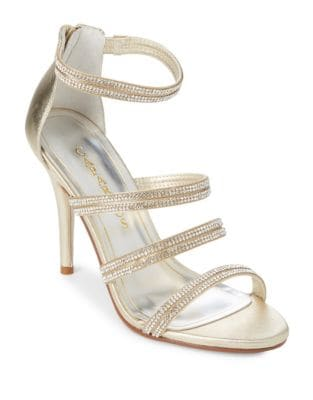 Immense Embellished Leather Dress Sandals by Caparros