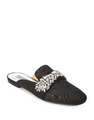 Kana Embellished Textile Mules by Badgley Mischka