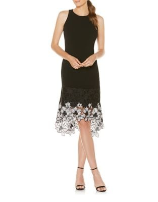 Floral Lace Hem Dress by Laundry by Shelli Segal