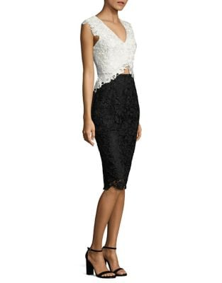 Floral Lace Cutout Dress by Laundry by Shelli Segal