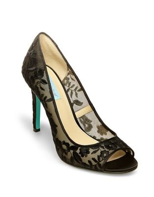 Blue by Betsey Johnson Adley Peep Toe Pumps by Betsey Johnson