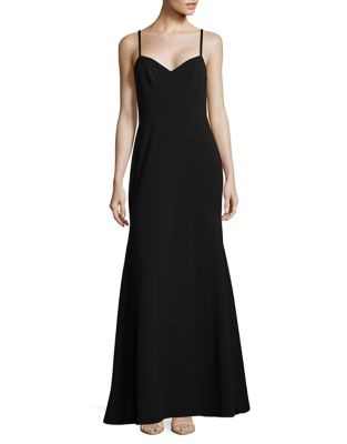 V-Neck Trumpet Gown by Vera Wang