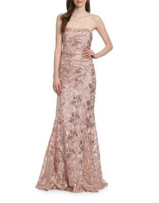 Heaven Floor-Length Strapless Dress by Belle Badgley Mischka