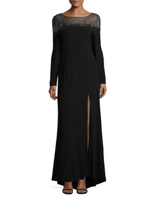 Heatset Embellishment Hi-Lo Gown by Vince Camuto