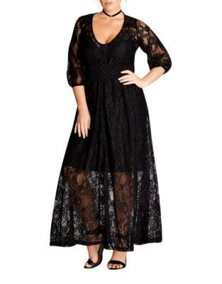 Plus Floral Lace Dress by Adrianna Papell