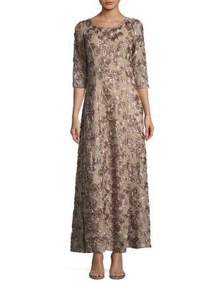 A-Line Rosette Dress by Alex Evenings