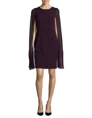 Cape Sheath Dress by Calvin Klein