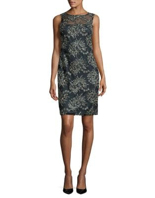 Floral Embroidered Dress by Calvin Klein