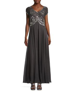 Petite Sequined short Sleeve Dress by J Kara