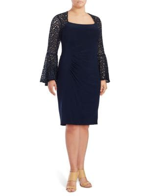 Plus Sequined Sheath Dress by Xscape