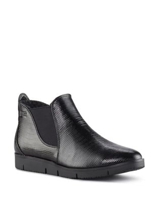 Sass Patent Leather Slip-On Booties by Cougar