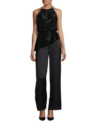 Sequined Asymmetrical Jumpsuit by Aidan Aidan Mattox