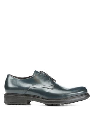 Leather Lace-Up Oxfords...