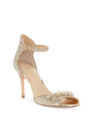 Prisca Glitter Mesh Ankle-Strap Pumps by Imagine Vince Camuto