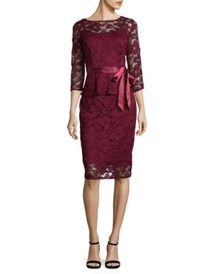 Lace Mesh Knee-Length Dress by Chetta B