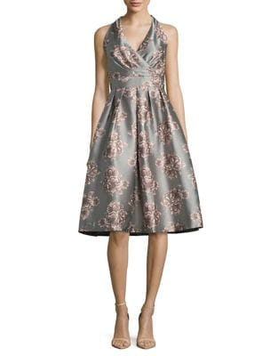 Printed Fit-&-Flare Dress by Chetta B