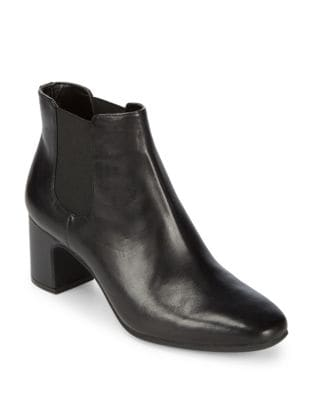 Gorgia Leather Booties by Anne Klein