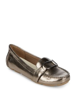 Petra Casual Tailored Leather Drivers by Anne Klein