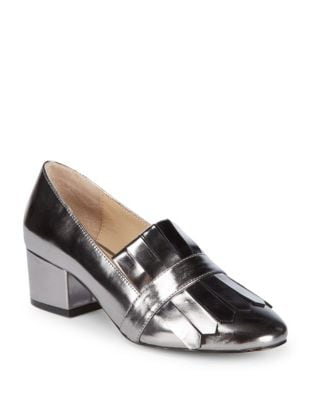 Olive Leather Pumps by Botkier New York