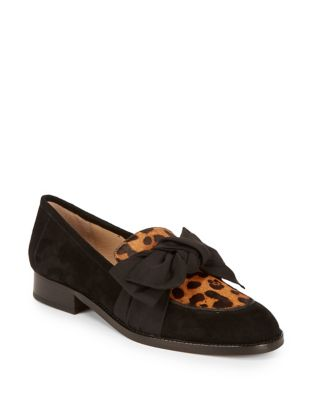 Violet Calf Hair Bow Loafers by Botkier New York
