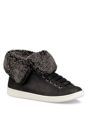 Starlyn Leather and Sheepskin High-Top Sneaker by UGG