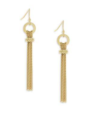 7/25 Put a Ring on It Gold Linear Dangle & Drop Earrings