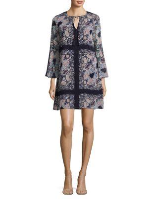 Photo of Chiffon V-Neck Shift Dress by Vince Camuto - shop Vince Camuto dresses sales
