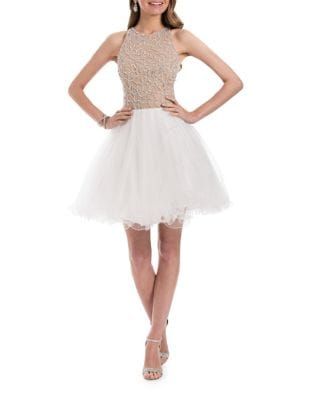 Elegant Fit & Flare Dress by Glamour by Terani Couture