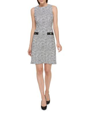 Knit Boucle Pocket Sheath Dress by Tommy Hilfiger