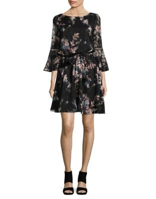 Self-Tie Bell Sleeve Dress by Vince Camuto