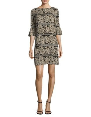 Plus Bell Sleeve Floral Shift Dress by Eliza J