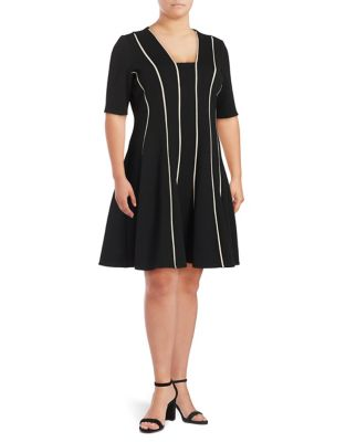 Plus Squareneck Dress by Gabby Skye