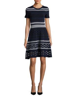 Photo of Knitted Scoopneck Dress by Shoshanna - shop Shoshanna dresses sales