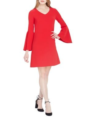 Photo of Tahari Arthur S. Levine Petite Flared Bell Sleeve Dress