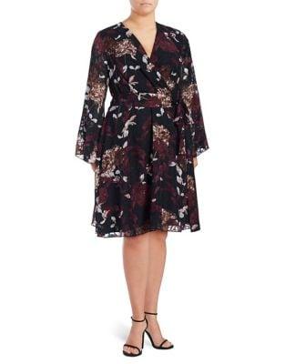 Plus Multi Wrap Dress by Ivanka Trump