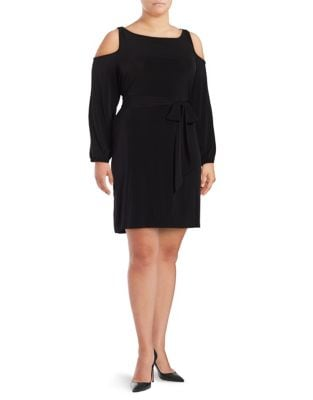 Plus Long Sleeves with Cold Shoulders Dress by Ivanka Trump
