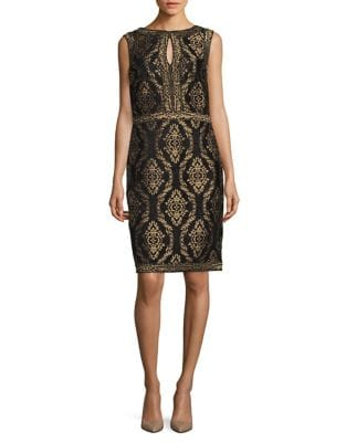 Embroidered Knee-Length Dress by Tadashi Shoji