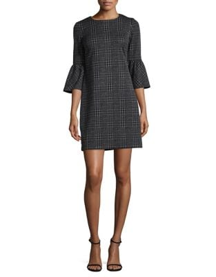 Plaid Knit Sheath Dress by Calvin Klein