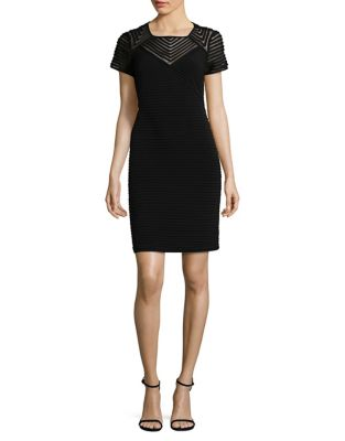 Photo of Pintucked Sheath Dress by Calvin Klein - shop Calvin Klein dresses sales