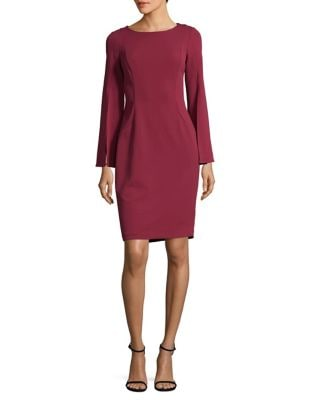Bell Sleeve Sheath Dress by Calvin Klein