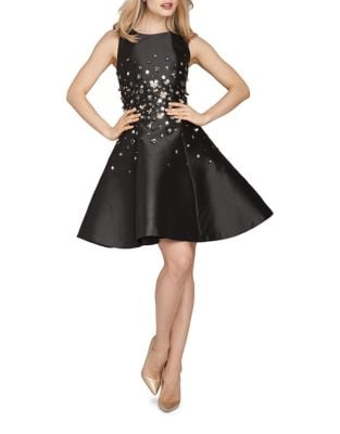 Beaded A-Line Cocktail Dress by Teri Jon