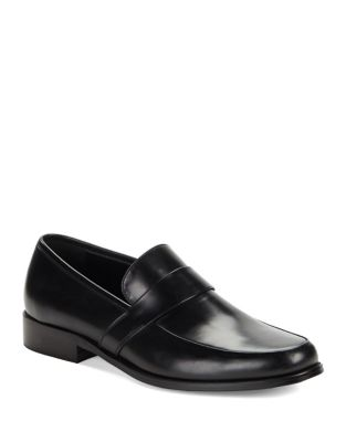 Leather Round Toe Loafers...