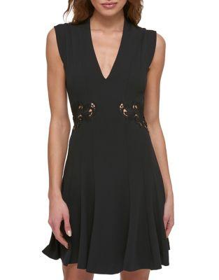 Sleeveless Pleated Mini Dress by Guess