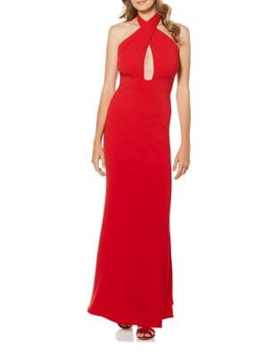 Wrap Neck Halter Gown by Laundry by Shelli Segal