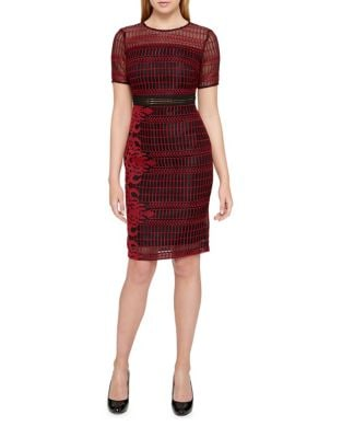 Embroidered Mesh Knee-Length Dress by Guess