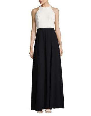 Long Halterneck Dress by H Halston